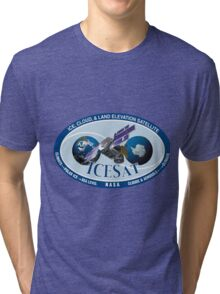 ICESat (Ice, Cloud, and land Elevation Satellite) Program Logo Tri-blend T-Shirt