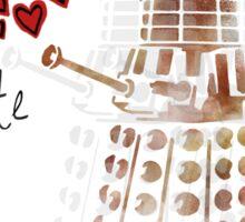 Dalek Love Sticker