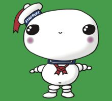 Kawaii Chibi Cute Stay Puft Marshmallow Man Ghostbusters One Piece - Short Sleeve