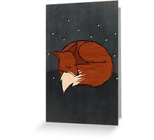Foxes and Fireflies Greeting Card