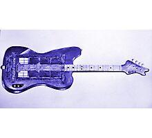Blue Bass Guitardis Photographic Print