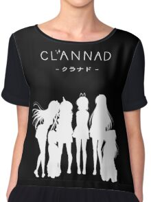 CLANNAD - Main Girls (White Edition) Chiffon Top