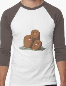Dugtrio Men's Baseball ¾ T-Shirt