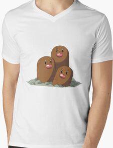 Dugtrio Mens V-Neck T-Shirt