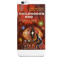 Pulp Fiction Cover of Arthur C. Clarke's Childhood's End iPhone Case/Skin