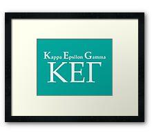 KEG – Kappa Epsilon Gamma, How I Met Your Mother Framed Print
