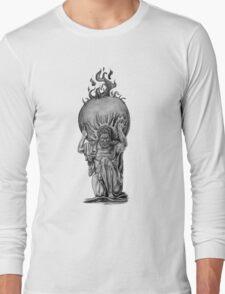 Atlas - Greek Mythology Statue Long Sleeve T-Shirt