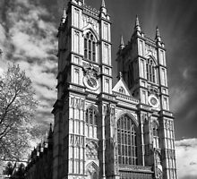 Westminster Abbey, London in monochrome by Graham Prentice