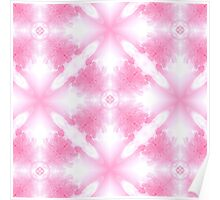 Icy Riverbank (Pink) Poster