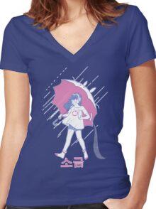 MEKA Salt Women's Fitted V-Neck T-Shirt