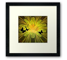 Sunny and Free Framed Print