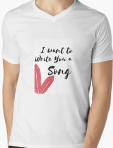 I want to write you a song - One Direction Mens V-Neck T-Shirt