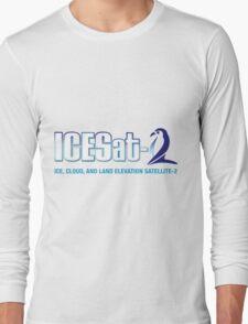 ICESat-2 Logo Optimized for Light Colors Long Sleeve T-Shirt