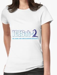 ICESat-2 Logo Optimized for Light Colors Womens Fitted T-Shirt