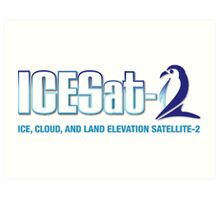 ICESat-2 Logo Optimized for Light Colors Art Print