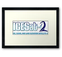 ICESat-2 Logo Optimized for Light Colors Framed Print