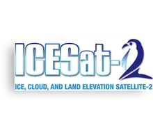 ICESat-2 Logo Optimized for Light Colors Canvas Print