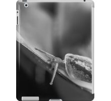 Monochrome macro shot of a snail on an exotic plant iPad Case/Skin