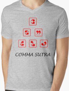Funny Comma Sutra  Mens V-Neck T-Shirt