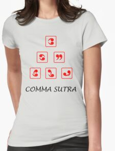 Funny Comma Sutra  Womens Fitted T-Shirt