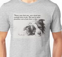 Thorns may hurt you...Border Collie Unisex T-Shirt