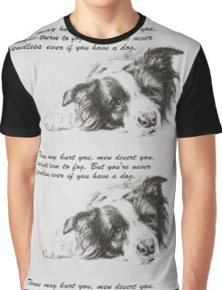 Thorns may hurt you...Border Collie Graphic T-Shirt