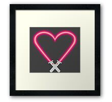 Saber Love Framed Print