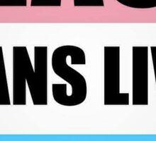 Black Transgender Lives Matter Sticker