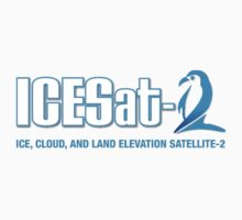 ICESat-2 Logo Optimized for Dark Colors One Piece - Short Sleeve