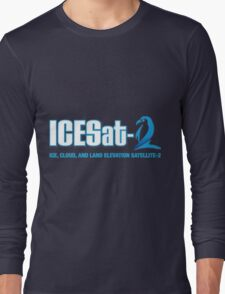 ICESat-2 Logo Optimized for Dark Colors Long Sleeve T-Shirt