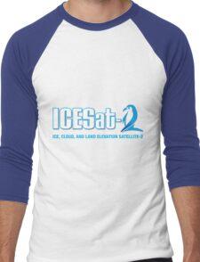 ICESat-2 Logo Optimized for Dark Colors Men's Baseball ¾ T-Shirt