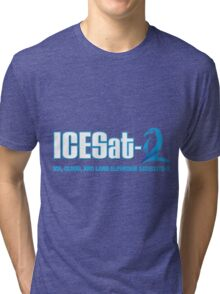ICESat-2 Logo Optimized for Dark Colors Tri-blend T-Shirt