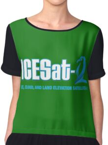 ICESat-2 Logo Optimized for Dark Colors Chiffon Top