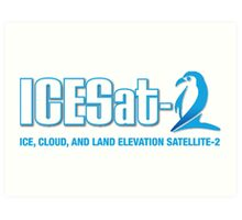 ICESat-2 Logo Optimized for Dark Colors Art Print