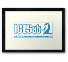 ICESat-2 Logo Optimized for Dark Colors Framed Print
