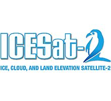 ICESat-2 Logo Optimized for Dark Colors Photographic Print