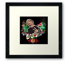 Snoop dogg - plain background Framed Print