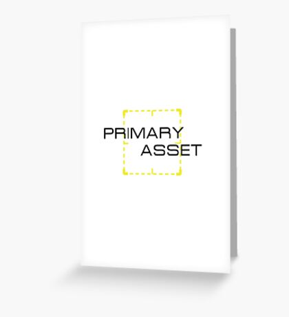 Primary Asset Greeting Card