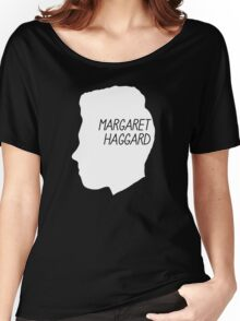 Margaret Haggard Logo - White Women's Relaxed Fit T-Shirt