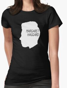 Margaret Haggard Logo - White Womens Fitted T-Shirt
