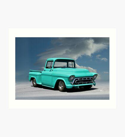 1956 Chevrolet Stepside Pickup Truck Art Print