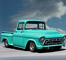 1956 Chevrolet Stepside Pickup Truck by DaveKoontz