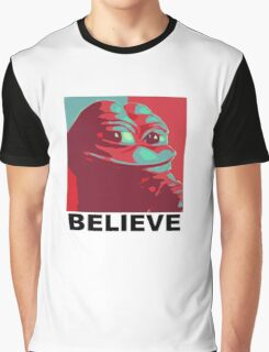 Pepe the Frog - Believe Graphic T-Shirt