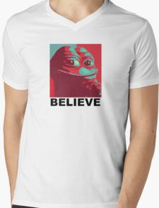 Pepe the Frog - Believe Mens V-Neck T-Shirt