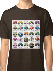 Pokemon Pokeball White Classic T-Shirt