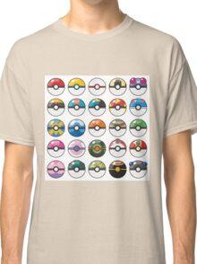 Pokemon Pokeball White Classic T-Shirt