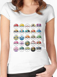 Pokemon Pokeball White Women's Fitted Scoop T-Shirt