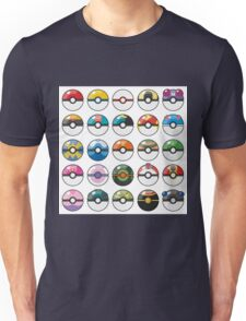 Pokemon Pokeball White Unisex T-Shirt