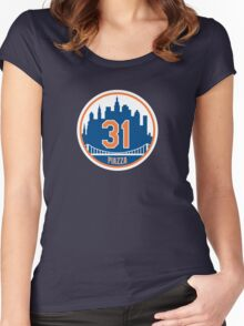 Mike Piazza #31 - New York Mets Women's Fitted Scoop T-Shirt