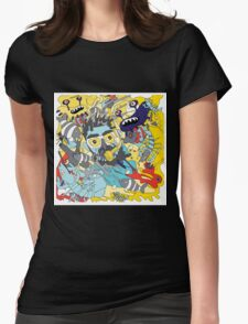 flying underwater Womens Fitted T-Shirt